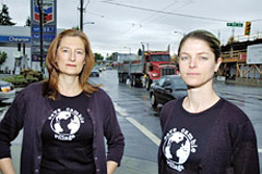 Cambie Street merchants Susan Heyes (left) and Abby Palmer. Photo: Evalu8.org.