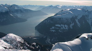 Targeted for project: Homathko River entering Bute Inlet. Photo Damien Gillis, Save Our Rivers Society.