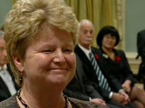 Conservative Minister of Fisheries and Oceans Gail Shea