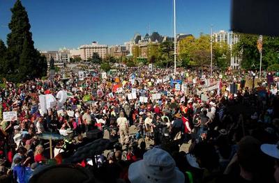 BC Legislature Salmon Rally