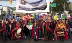 First Nations and BC citizens march together against Enbridge in Prince Rupert in 2012