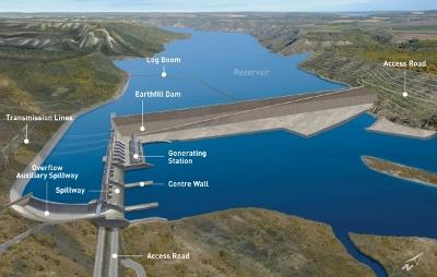 Artist's rendering of proposed Site C dam.