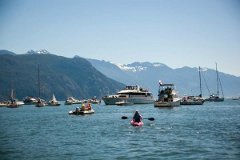 The Save Our Sound rendezvous in Howe Sound. Photo via Future of Howe Sound Society's Facebook page.