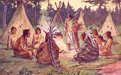 Schoolbook depiction of Iroquois society: growing up in Kamloops, a white child learned about some eastern First Nations but virtually nothing about those in BC