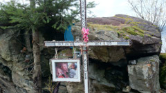 Memorial to Highway 99 victim Shannon Archer.  Photo courtesy of the Whistler News