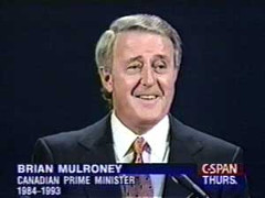 Brian Mulroney in 1993: Almost wiped out the Tories.