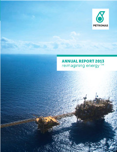 Cover of 2013 Petronas annual report