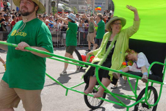 On a roll? Elizabeth May at the Toronto Gay Pride parade, 2011. Photo: BarrieGreens/Flickr.