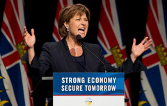 Premier Christy Clark made big election promises about managing BC's economy (CP)