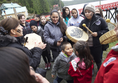 Heiltsuk herring fishery victory in Bella Bella. Photo by Mychaylo Prystupa