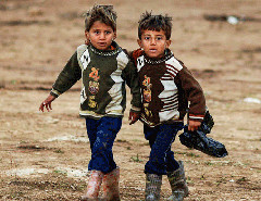 Syrian boys at a refugee camp in the village of Atmeh, Syria (Flickr CC / Freedom House)