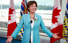 Christy Clark announcing her cabinet in 2013 (Flicker CC Licence / Government of BC)