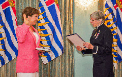 Christy Clark being sworn in as premier in 2013 (Province of BC / Flickr CC licence)
