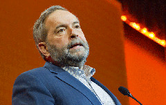 Outgoing NDP Leader Tom Mulcair at the party's 2016 convention in Edmonton (USW/Flickr)