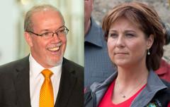 BCNDP Leader John Horgan (Flickr/BC NDP) and Premier Christy Clark (Flickr/Province of BC)
